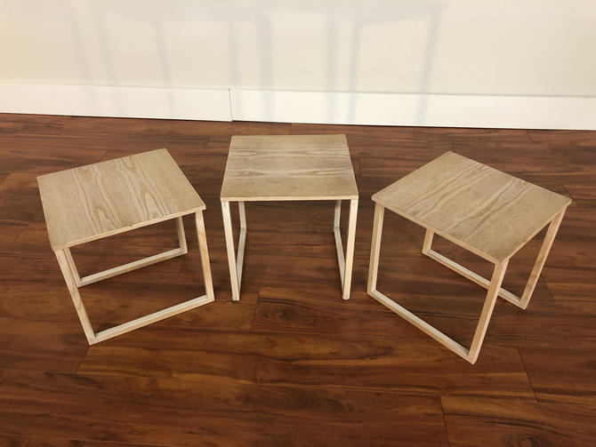 Kai Kristiansen Set of 3 Nesting Tables Made by Vildbjerg Møbelfabrik - Made in Denmark by Vintagefurnitureetc