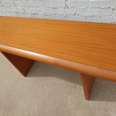 Mid Century Modern Danish Modern Teak Sofa Table by VintageVaultTulsa