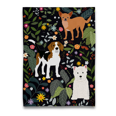 Garden of Dogs Tea Towel