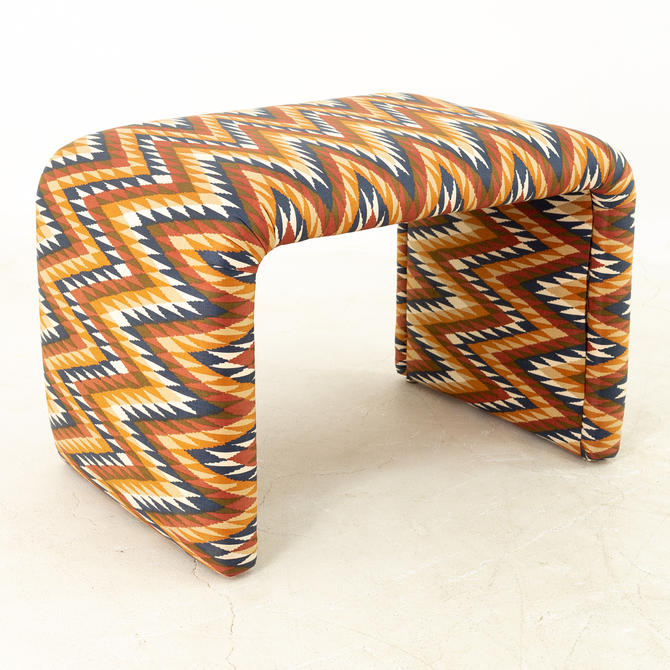 Mid Century Upholstered Waterfall Bench by ModernHill