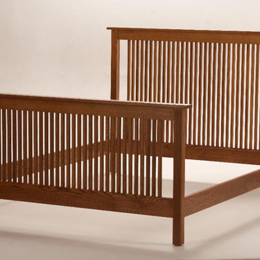 Mission Arts & Crafts Stickley style Queen Spindle Bed by DaleMartinFurniture