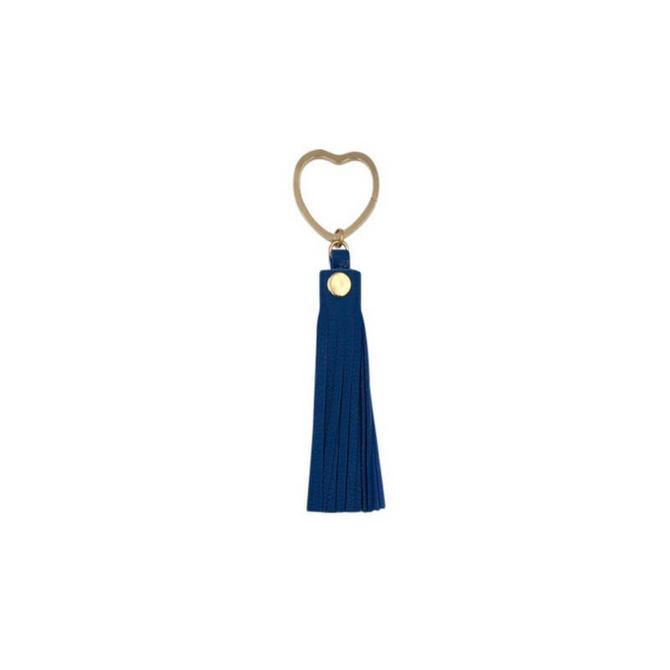 Heart Key Ring by Sarah Cecelia Blue Tassel Key Ring by SarahCecelia