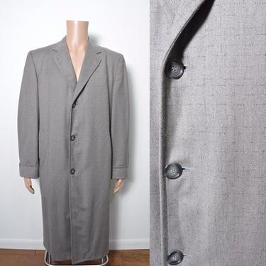 Vintage 1950s Overcoat 50s Flecked Atomic Mid Century Size XL by littlestarsvintage
