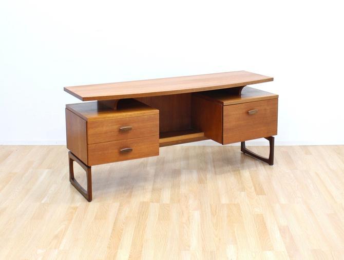 Mid Century Quadrille Desk/Vanity by G Plan by SputnikFurnitureLLC