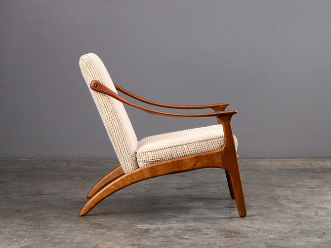 Mid Century Hovmand-Olsen Lounge Chair Teak Danish Modern by MadsenModern