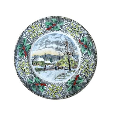 "Adams ""New England Winter Scene"" Dinner Plate by FunkyRelic"