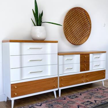 AVAILABLE - Mid Century set of Dressers by JulieSimpleRedesign