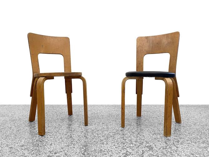Alvar Aalto Model 66 Chairs by Finmar - a Pair by JefferyStuart