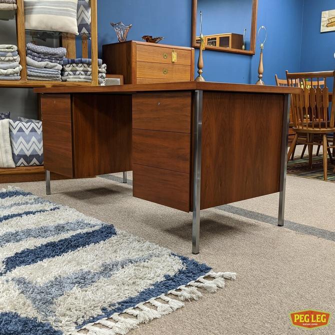 Walnut Executive desk by Knoll Furniture