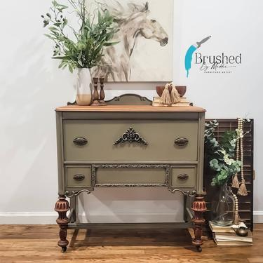 Vintage sideboard / buffet/ entryway table shipping is not free by BrushedbymaddieArt