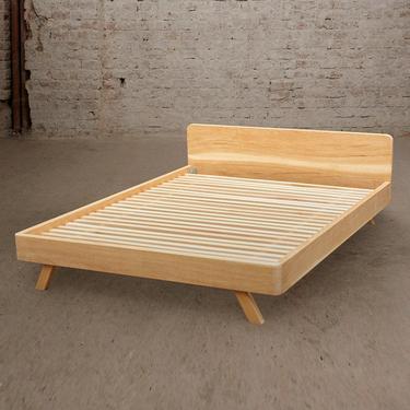 King Bed, Queen Bed, Bed Frame, Walnut Bed, Oak Bed,  Danish Modern Bed, Headboard, Bedroom Furniture by MOKUArtisanFurniture
