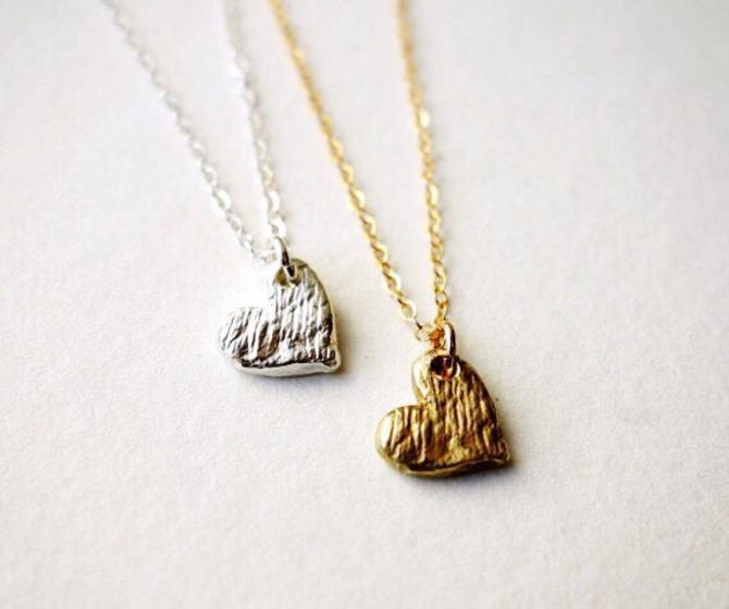 Scratch Heart Pendants by RachelPfefferDesigns