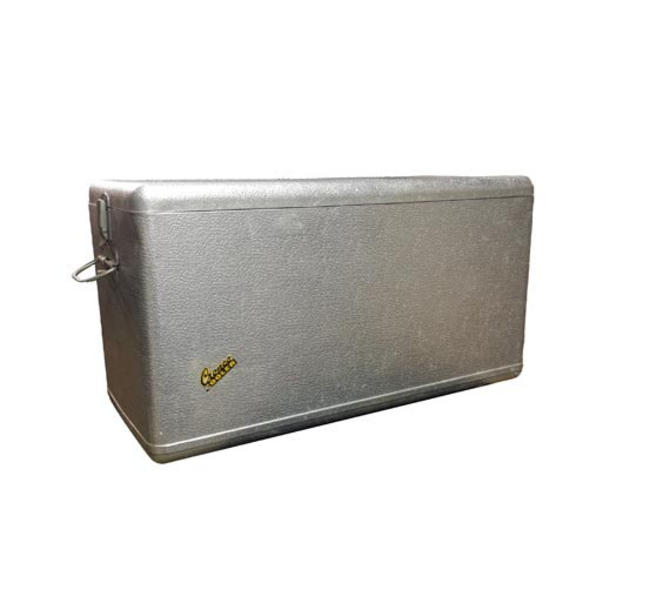 Vintage Metal Cooler - Vintage Cronco Cooler, Camping Ice Box, 1950's Metal  Beer Cooler, Insulated Metal Ice Chest, Silver Fiberglass Cooler by