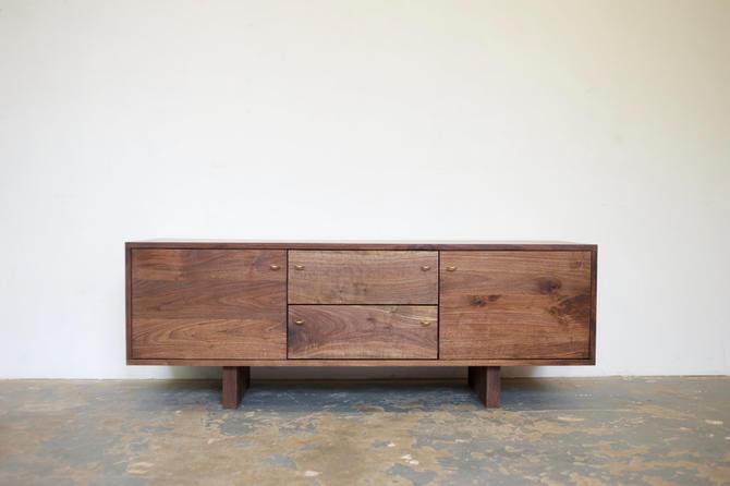 Walnut Media Cabinet - Modern Credenza- Free Shipping by OlivrStudio