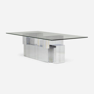 Cityscape dining table, model PE 639 (Paul Evans)