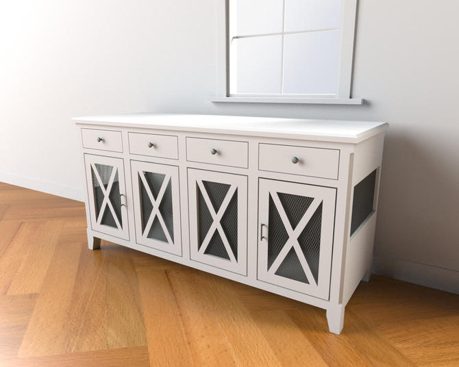 Dog Crate with Drawers - Modern / Farmhouse / crate with storage / Dog House / rustic furniture / farmhouse pet by TheRusticForest