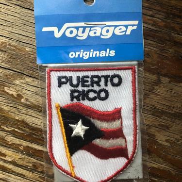 Vintage Voyager Original Puerto Rico Flag Travel Patch by BlackcurrantPreserve