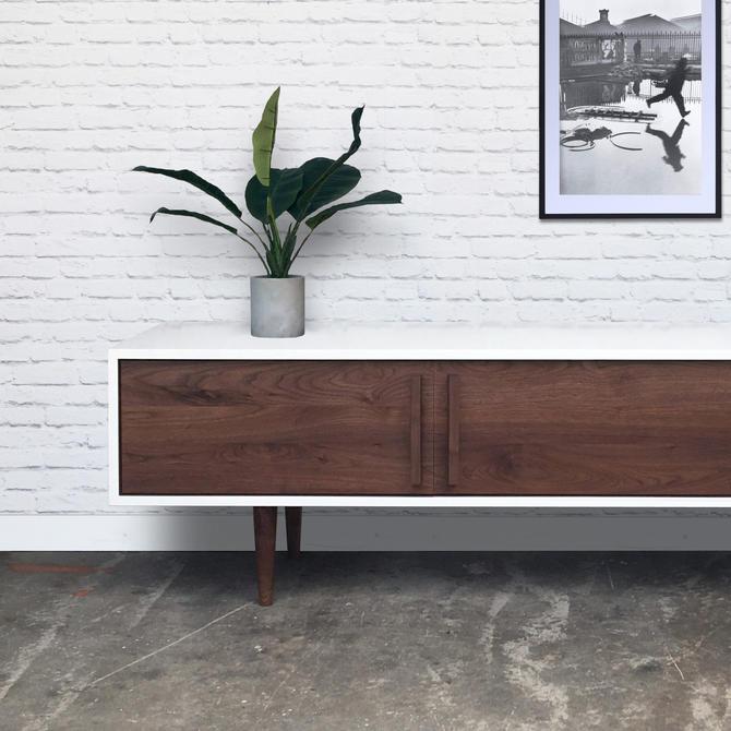 Kasse TV Stand in White / White Oak - Custom For Matt by STORnewyork