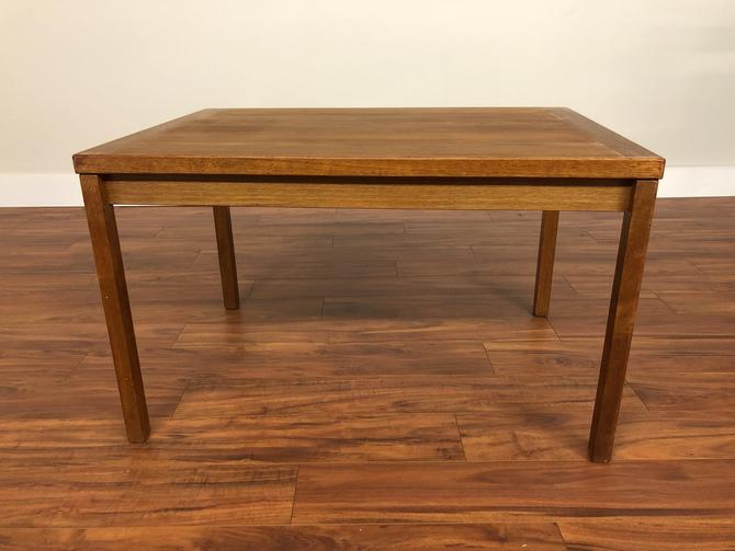 Compact Teak Draw Leaf Dining Table