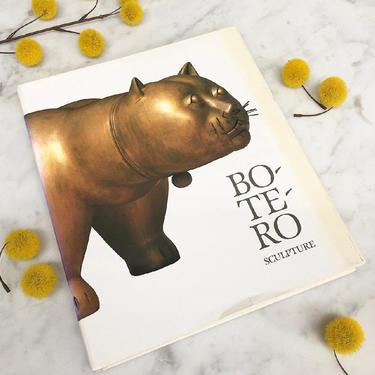 Vintage Botero Sculpture Book Retro 1980s Edward Sullivan + Boterismo + Sculptor + Artist + Art + Hardcover + Coffee Table Book by RetrospectVintage215