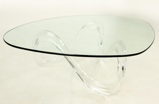 Knut Hesterberg Lucite Noguchi Style Coffee Table by ModernHill