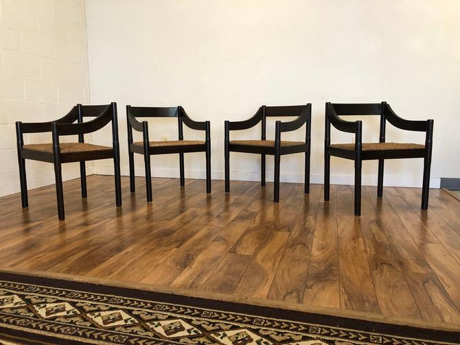 Vico Magistretti for Cassina Carimate Dining Chairs - Set of 4 by Vintagefurnitureetc