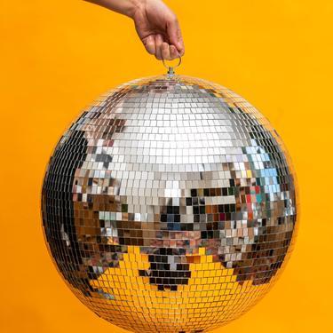 "16"" Disco Ball Mirror Ball || THE SYLVESTER by LivingColorfullyShop"