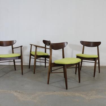 Set of 4 Mid-Century Modern H Paul Browning Shell Back Dining Chairs by AnnexMarketplace