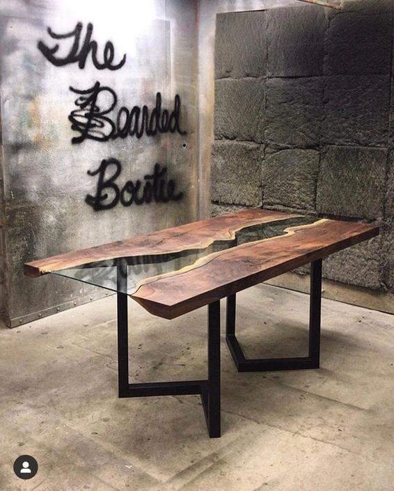 Custom Live Edge Custom Table by TheBeardedBowtie