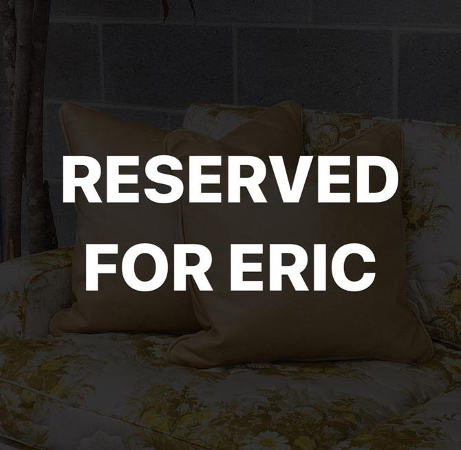 RESERVED FOR ERIC by RetrospectVintage215