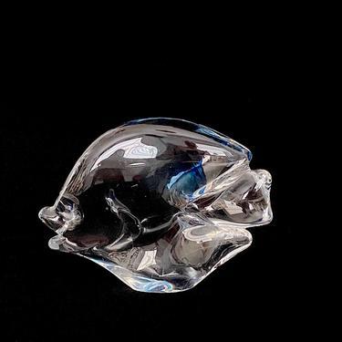 Vintage Italian Murano Art Glass Fish Sculpture Figurine Clear and Blue Glass Artist Signed J. Manoti ? Italy by SwankyChaperooo