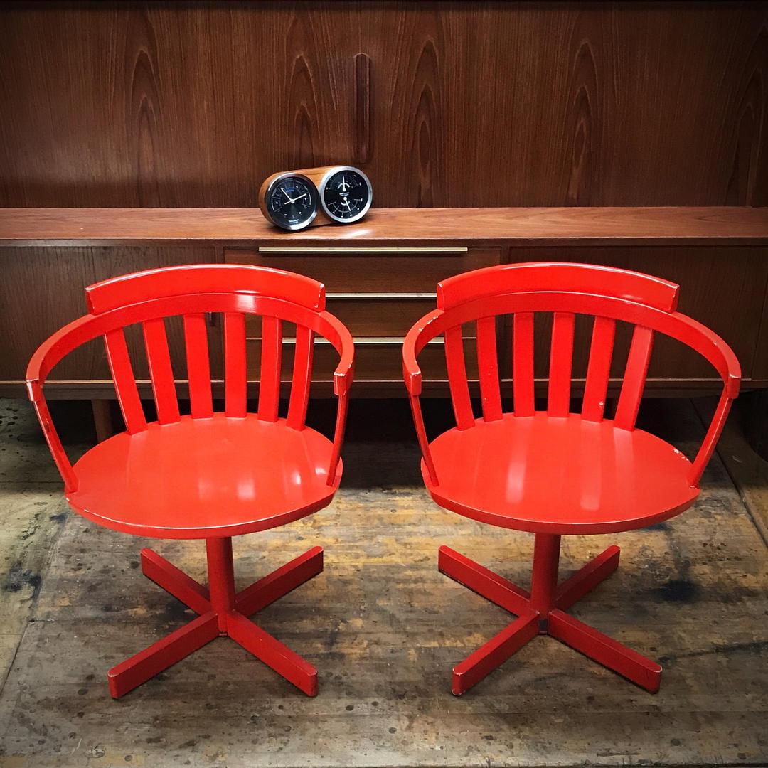 Pair Of Vintage Mid Century Edsbyverken Armchairs