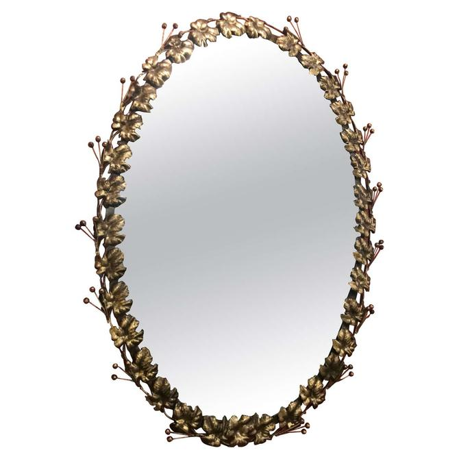Gilded Oval Mirror