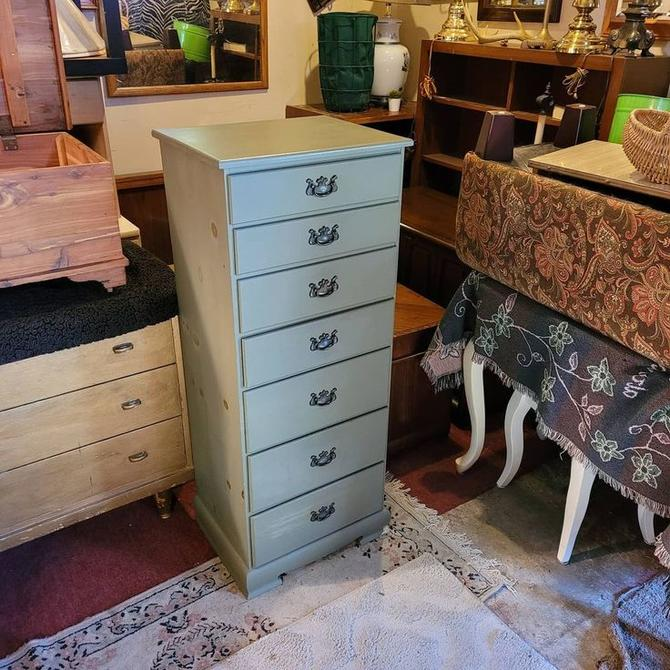 """SOLD. Seven Drawer Lingere Chest. 15.5x20x49""""tall."""