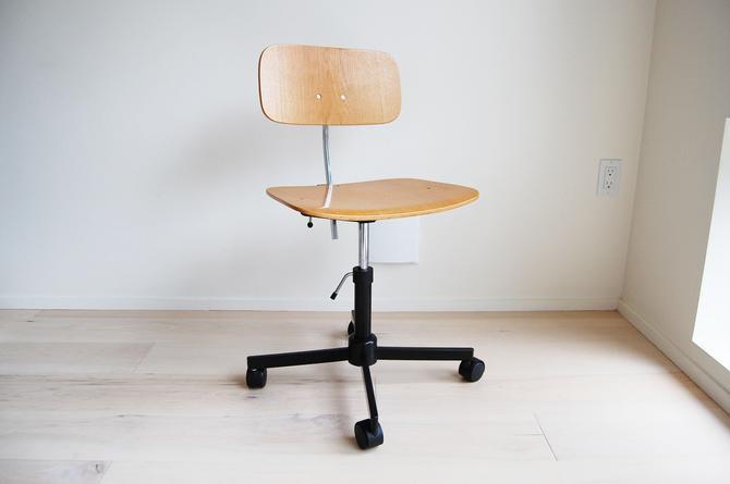 Rabami Stole Plywood Swivel Desk Chair Jorgen Rasmussen Made In Denmark by MidCentury55