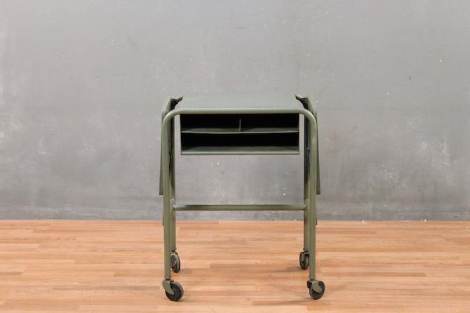 Compact Industrial Drop-Leaf Desk