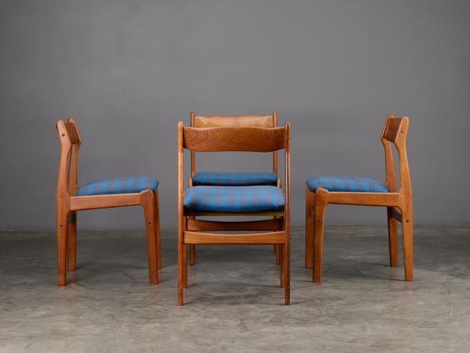Pleasant 4 Mid Century Teak Dining Chairs Danish Modern By Madsenmodern Download Free Architecture Designs Viewormadebymaigaardcom