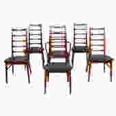 Set of 6 (1 Arm + 5 Side) Koefoeds Hornslet Danish Teak Dining Chairs