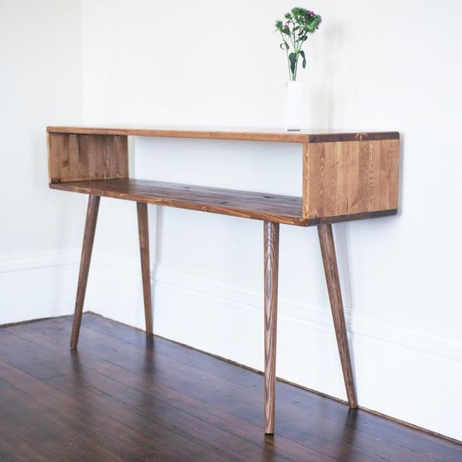Mid Century Modern Sofa Table Hallway Table Entry Table by OrWaDesigns