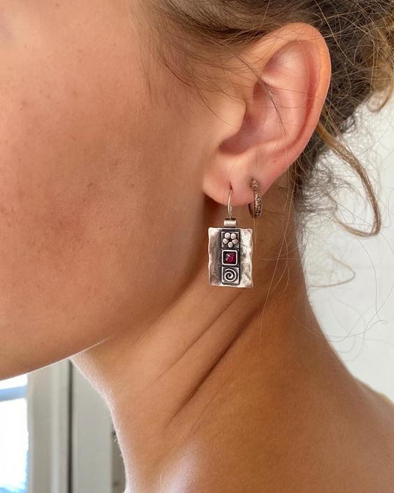 90s Sterling Silver Earrings