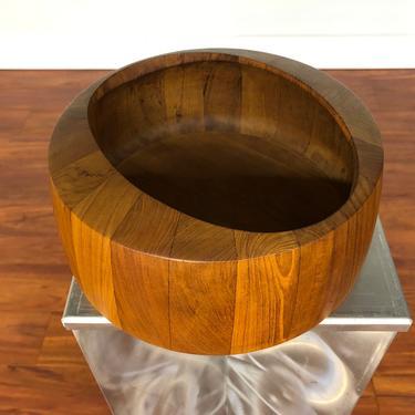 Staved Teak Bowl by Jens Quistgaard for Dansk by Vintagefurnitureetc