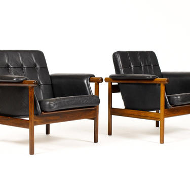 "Danish Modern / Mid Century Rosewood ""Wikki"" Lounge Chairs –Illum Wikkelsø for Kofoed Møbelfabrik by atomicthreshold"