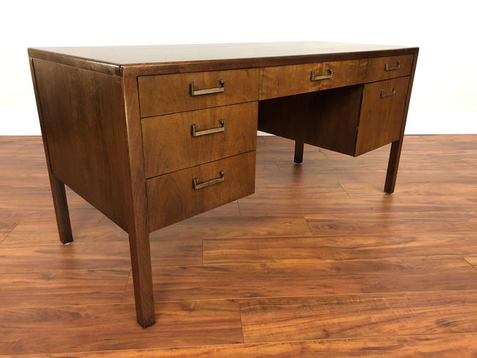 Mid-Century Wood Writing Desk by Vintagefurnitureetc