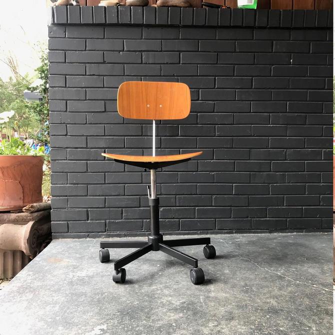 Groovy Danish Teak Kevi Desk Chair Vintage Mid Century Modern Cjindustries Chair Design For Home Cjindustriesco