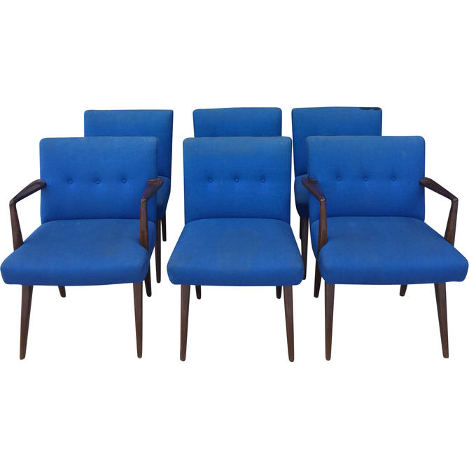 Jens Risom Dining Chairs Set of 6