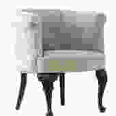 Gray Barrel Back Armchair by WildChairy