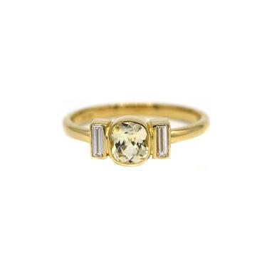 One Of A Kind Yellow Sapphire Cushion Ring