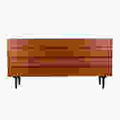 Danish Modern Teak 8-Drawer Long Dresser