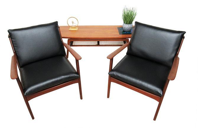 Mid Century Chairs (pair) by Ole Wanscher Denmark. by SputnikFurnitureLLC