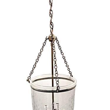 19th Century English 10.75 in. Clear Bell Jar Pendant Lantern